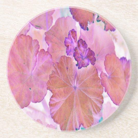 Pink Geranium Leaves Coaster