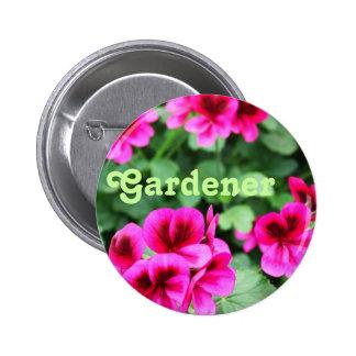 Pink Geranium Pinback Button