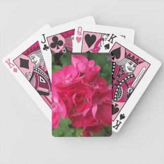Pink Geraniums Bicycle Playing Cards