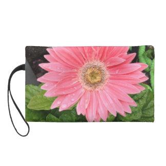 Pink Gerber Daisy Wristlet