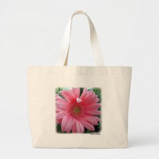 Pink Gerber Daisy Jumbo Tote Bag