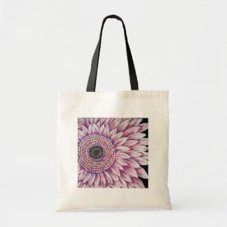PINK GERBER DAISY CANVAS BAGS