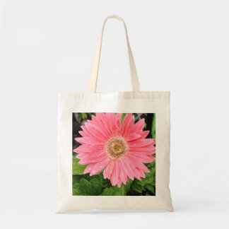 Pink Gerber Daisy Canvas Bag