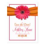 Pink Gerber Daisy Bat Mitzvah Save the Date