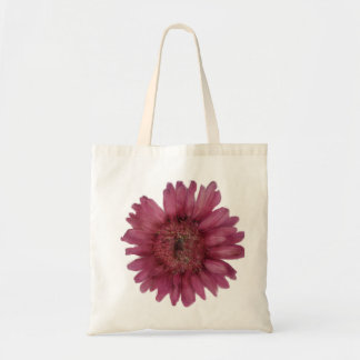 Pink Gerber Daisy Budget Tote Canvas Bags