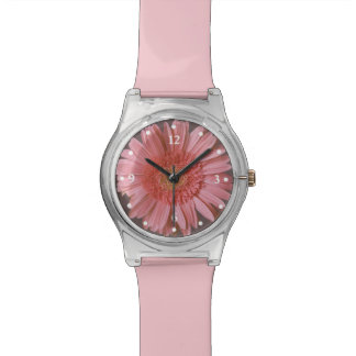 Pink Gerber Daisy Watch