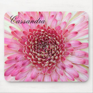 Pink Gerbera Close up Mouse Pad