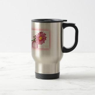 Pink Gerbera Daisy 15 Oz Stainless Steel Travel Mug