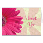 Pink Gerbera Daisy Baby Shower Thank You Card