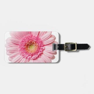 Pink Gerbera Daisy Bag Tag