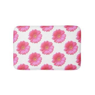 Pink gerbera daisy bathroom mat
