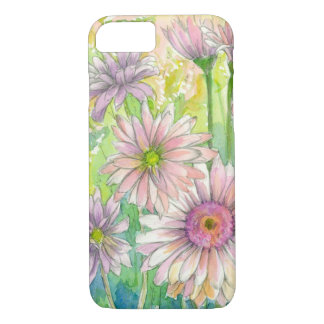 Pink Gerbera Daisy Bouquet Watercolor Flower Art iPhone 8/7 Case