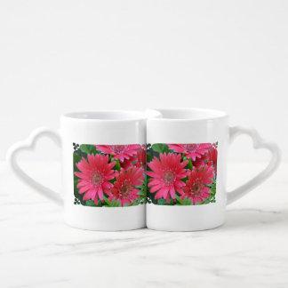 Pink Gerbera Daisy Couples Mug