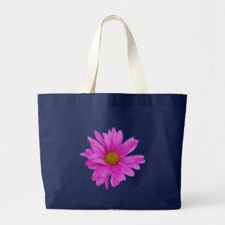 Pink Gerbera Daisy Flower Customizable Large Tote Bag