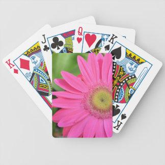Pink Gerbera Daisy Flower Poker Deck