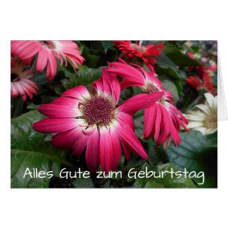 Pink Gerbera Daisy Flowers Geburtstag Card