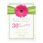 Pink Gerbera Daisy Orange Ribbon 30th Birthday