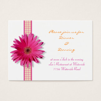 Pink Gerbera Daisy Reception Card