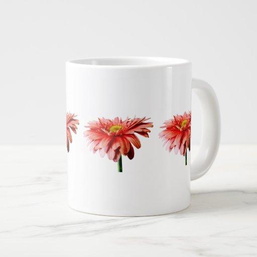 Pink Gerbera Daisy Side View Jumbo Mug