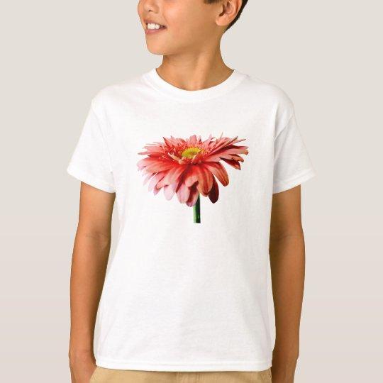 Pink Gerbera Daisy Side View T-Shirt