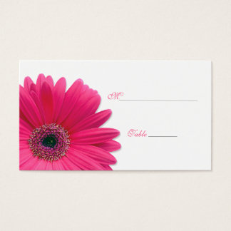 Pink Gerbera Daisy Special Occasion Place Card