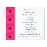 Pink Gerbera Daisy Vow Renewal Invitation Invitation