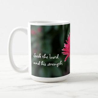 Pink Gerbera Daisy w Scripture Verse Mug
