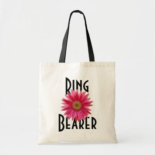 Pink Gerbera Daisy/ Wedding Bag