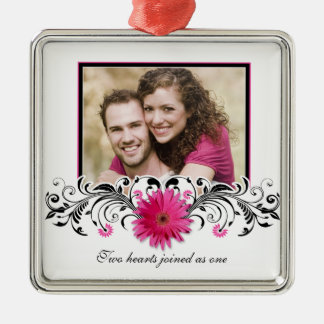 Pink Gerbera Daisy Wedding Love Favor Ornament