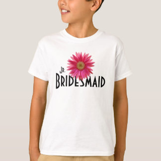 Pink Gerbera Daisy/ Wedding T-Shirt