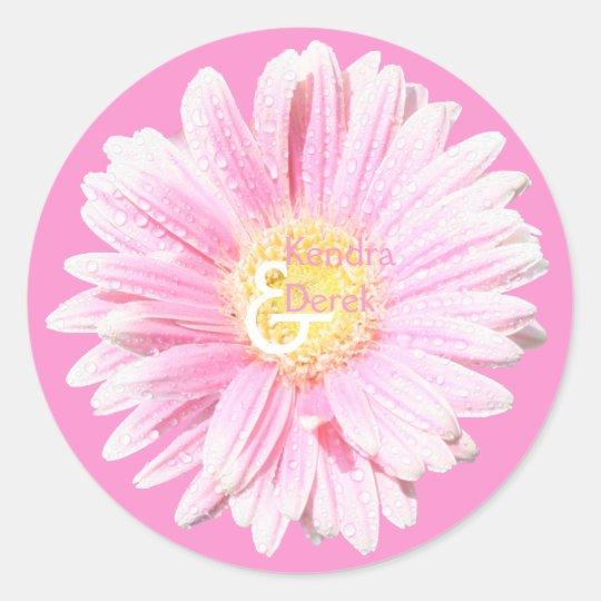 Pink Gerbera Envelope Seal (Optional Background)