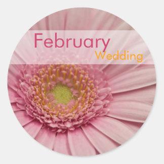 Pink Gerbera • February Wedding Sticker