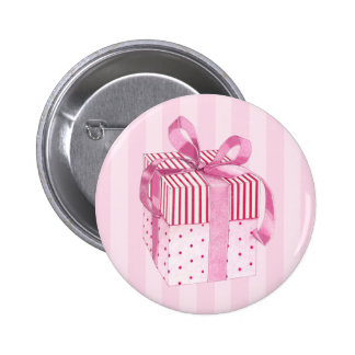 Pink Gift stripes Button