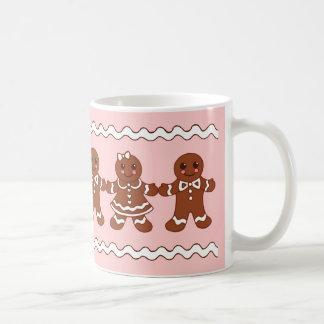 Pink Gingerbread Christmas Coffee Mug