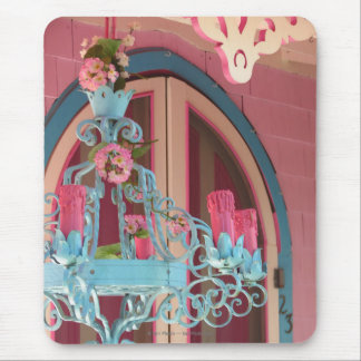 Pink Gingerbread Cottage Door and Candelabra Mouse Pad