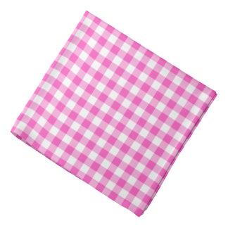 Pink Gingham Checks Pattern Bandana