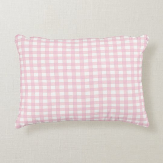 Pink Gingham Decorative Pillow