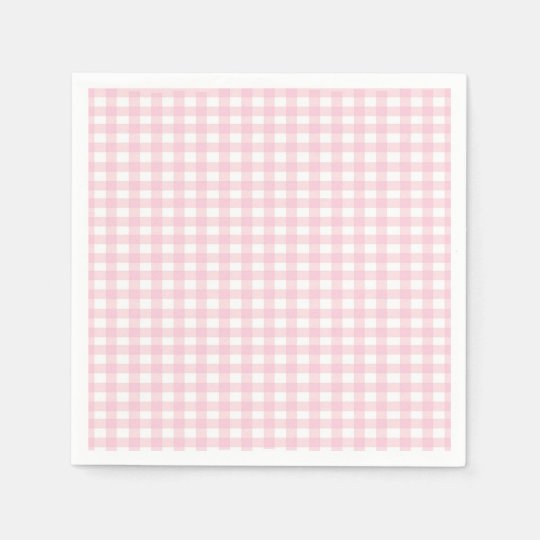 Pink Gingham Disposable Napkin