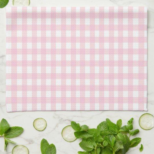 Pink Gingham Kitchen Towel