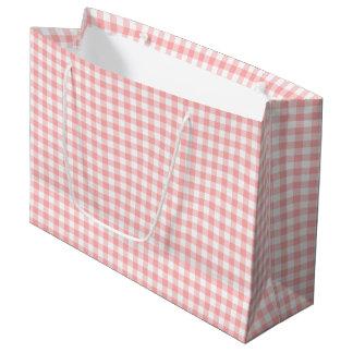 Pink Gingham Large Gift Bag