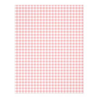 Pink Gingham Letterhead