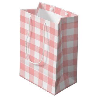 Pink Gingham Medium Gift Bag