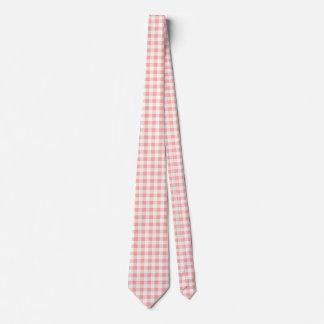 Pink Gingham Men's Tie