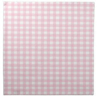 Pink Gingham Napkins