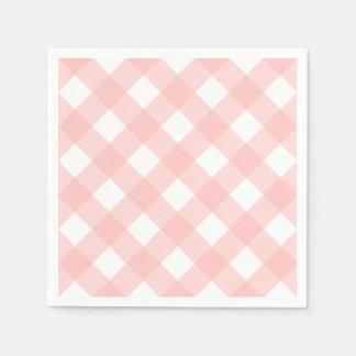 Pink Gingham Napkins Paper Napkin