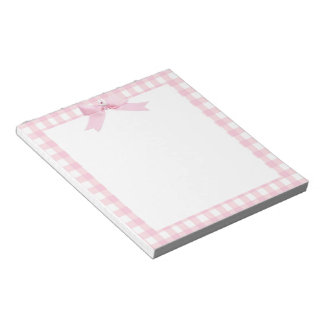 Pink Gingham Notepad