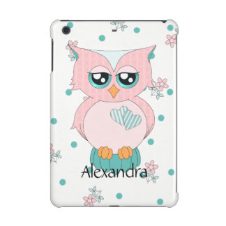 Pink Gingham Owl iPad Mini 2 & 3 Case iPad Mini Covers