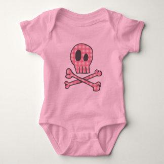 Pink Gingham Pirate Baby Bodysuit