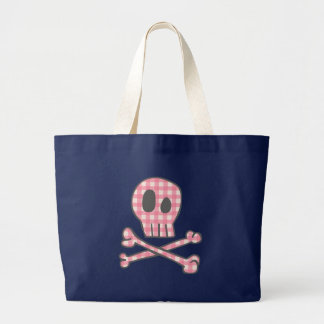 Pink Gingham Pirate Tote Bag