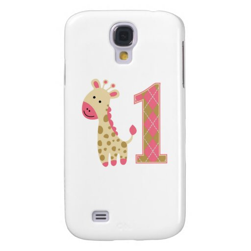 Pink Giraffe First Birthday HTC Vivid Cases